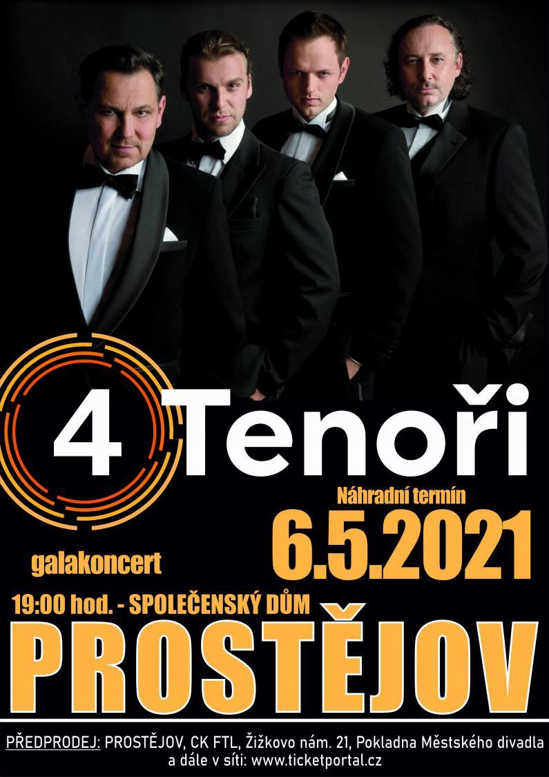 4TENOŘI - galakoncert 6. 5. 2021 v 19.00
