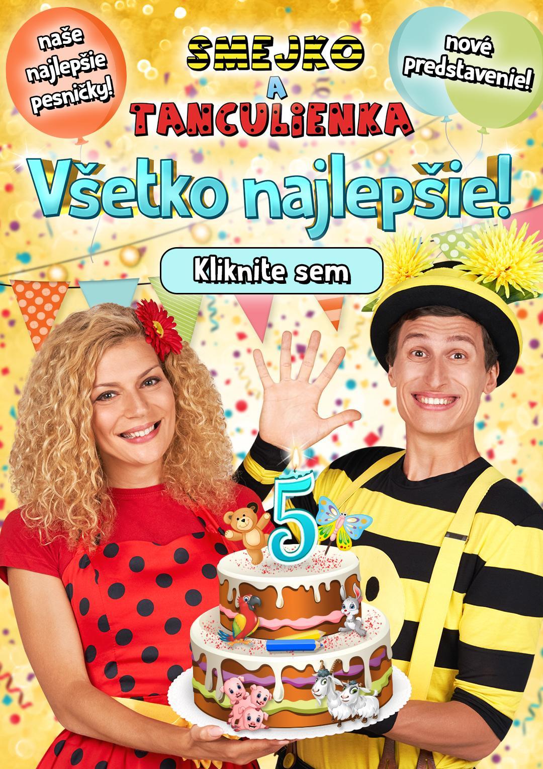 Smejko a Tanculienka - 17. 4. 2021 v 17.00