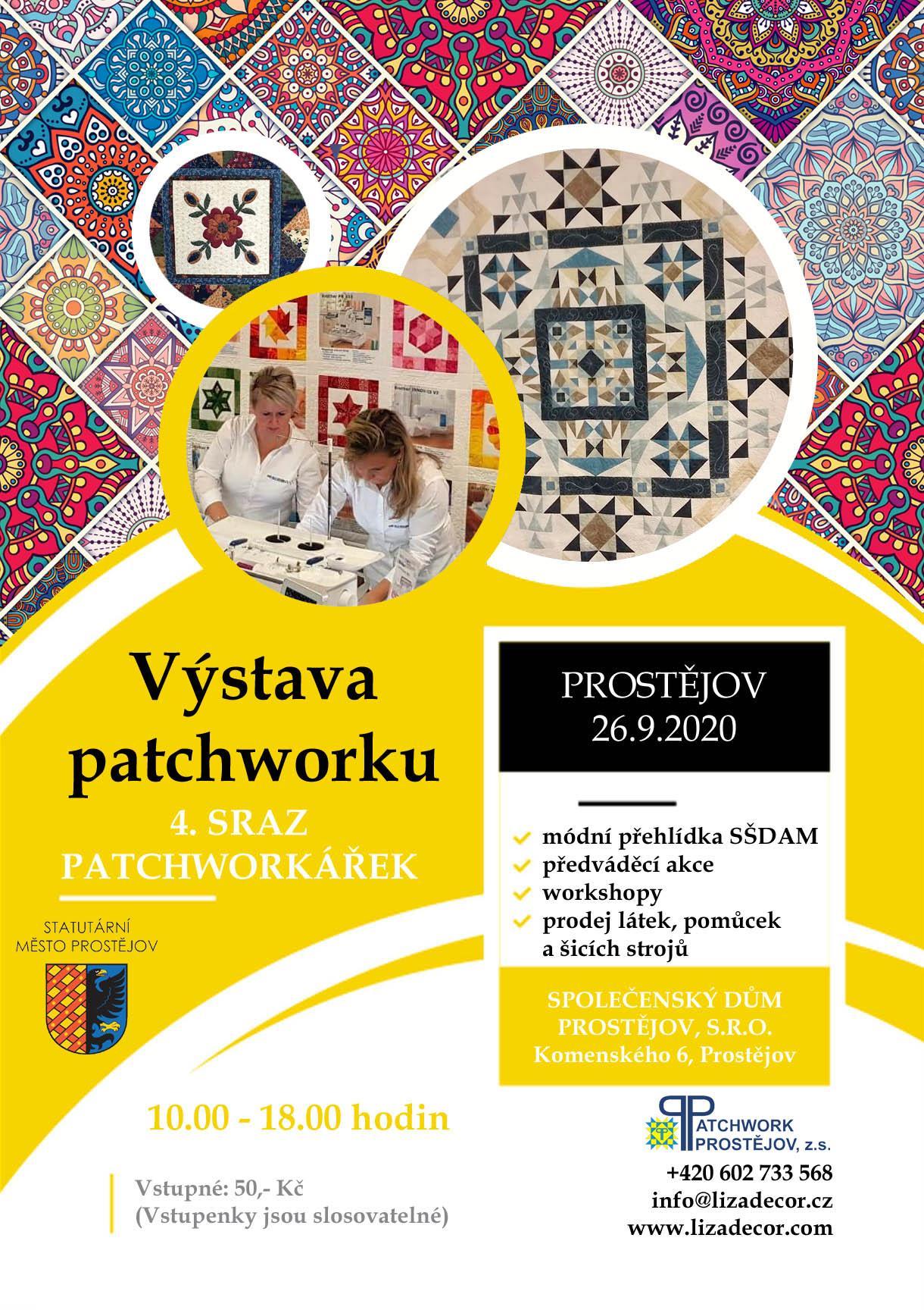 Výstava patchworku - 4. sraz patchworkářek 26. 9. 2020 v době od 10.00 - 18.00